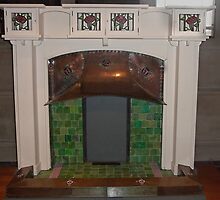 Charles Rennie MacKintosh Fireplace  by MagsWilliamson