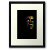 angry face Framed Print