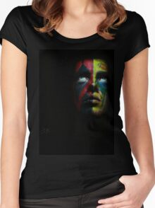 angry face Women's Fitted Scoop T-Shirt