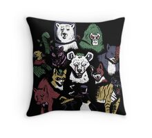 Predators of the Bat Throw Pillow