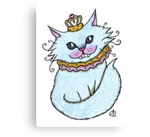 Little Blue Cheshire Canvas Print