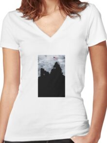 Sign of the times Women's Fitted V-Neck T-Shirt