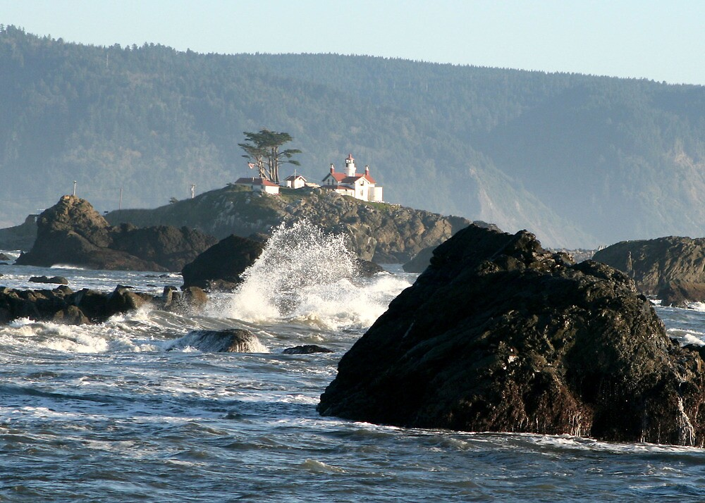 Lighthouse at Crescent City by Dave Davis