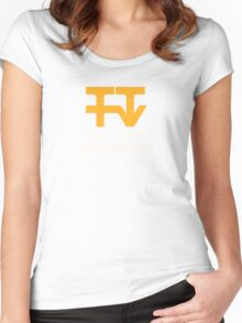 Tyne Tees regional ITV station logo Women's Fitted Scoop T-Shirt