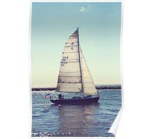 Sailboat on Lake Michigan Poster