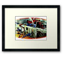 precarious connection Framed Print