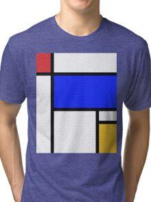 Mondrian Blocks Tri-blend T-Shirt