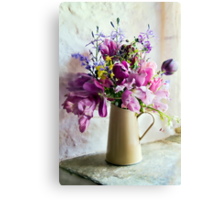 Flowers At The Post Office Canvas Print
