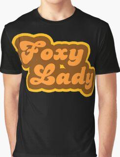Foxy Lady - Retro 70s - Logo Graphic T-Shirt