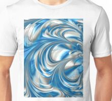 Nickel Blue Abstract Unisex T-Shirt