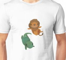 Lion and Dinosaur <3 Unisex T-Shirt