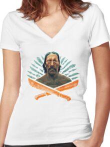 Machete Women's Fitted V-Neck T-Shirt
