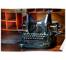 Vintage Oliver Typewriter Poster