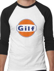 """GILF"" - Gulf Gas Parody - Grandmother I Would Like to F&@K Men's Baseball ¾ T-Shirt"