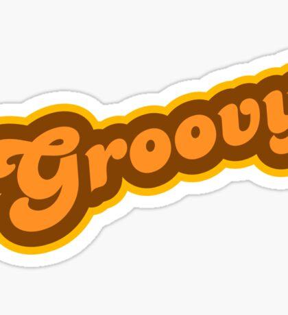 Groovy - Retro 70s - Logo Sticker
