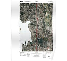 USGS Topo Map Washington State WA Kirkland 20110504 TM Poster