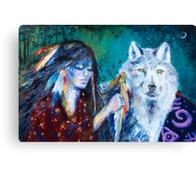 Wolf Clan Ceremony: The Ritual Canvas Print