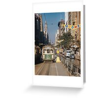 Collins street tram  19580305 0003  Greeting Card