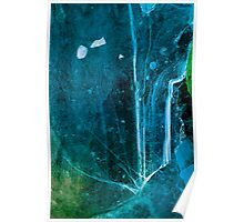 Cosmic Winter - Ice Abstract Poster