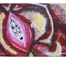 Skull in Rose Photographic Print
