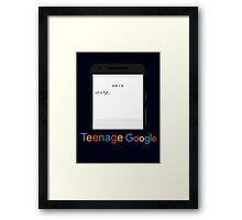 Teenage Google Framed Print