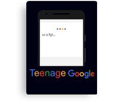 Teenage Google Canvas Print