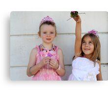 The two little princesses Canvas Print