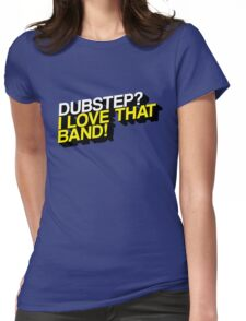 Dubstep - The True Fan (Blue/Yellow) Womens Fitted T-Shirt