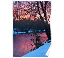Beautiful Red Sunset Poster