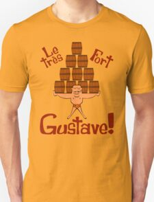 Gustave! Cartoon Strongman with Mustache T-Shirt