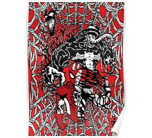 Spider-Man venom in colour Poster