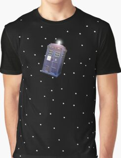 Police Box in Outerspace. Graphic T-Shirt