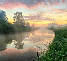 Sunrise On A Misty River by Veikko  Suikkanen
