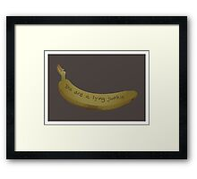 A lying Junkie | Community Framed Print