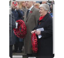 Jo Johnson MP lays a wreath on Orpington war memorial at a remembrance ceremony iPad Case/Skin