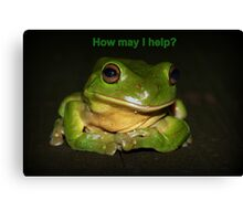 How may I help? Canvas Print