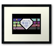 Pixel White Diamond | Community Framed Print