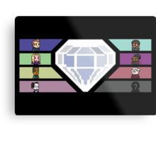 Pixel White Diamond | Community Metal Print