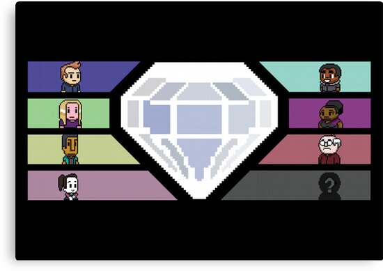 Pixel White Diamond | Community by Mark Quimoyog