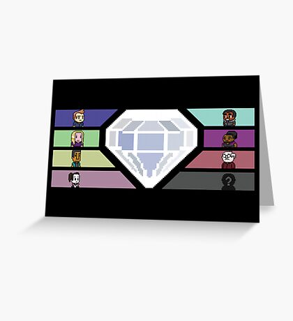 Pixel White Diamond | Community Greeting Card
