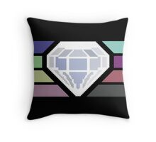 Pixel White Diamond | Community Throw Pillow