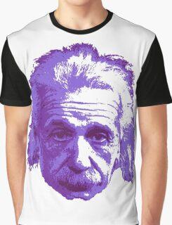 Albert Einstein - Theoretical Physicist - Purple Graphic T-Shirt