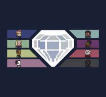 Pixel White Diamond   Community Kids Tee