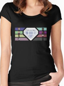 Pixel White Diamond | Community Women's Fitted Scoop T-Shirt