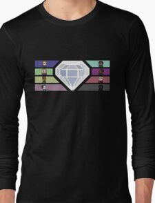 Pixel White Diamond | Community Long Sleeve T-Shirt