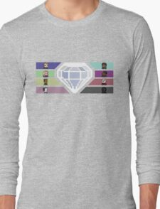 Pixel White Diamond | Community Long Sleeve T-Shirt