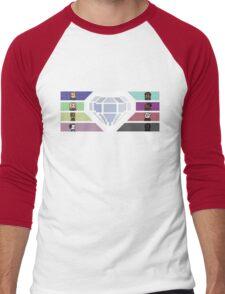 Pixel White Diamond | Community Men's Baseball ¾ T-Shirt