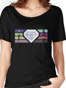 Pixel White Diamond | Community Women's Relaxed Fit T-Shirt