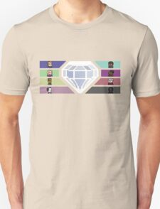 Pixel White Diamond   Community Unisex T-Shirt