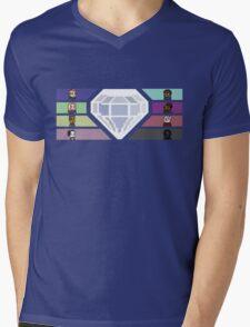 Pixel White Diamond | Community Mens V-Neck T-Shirt